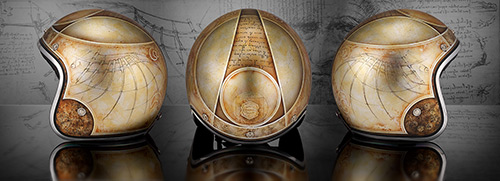 custom helmet leonardo vinci luxury