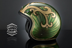 casco moto custom chopper king
