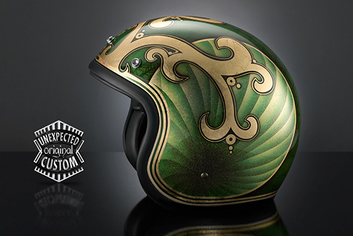 airbrush helmet custom casco moto custom chopper king