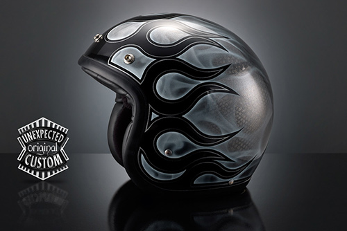 airbrush helmet custom perfect true flames