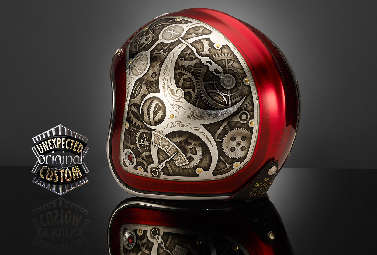 Full Motorcycle Helmet >> STEAMPUNK 2, Ruby Pavillon Voltaire - UNEXPECTED CUSTOM