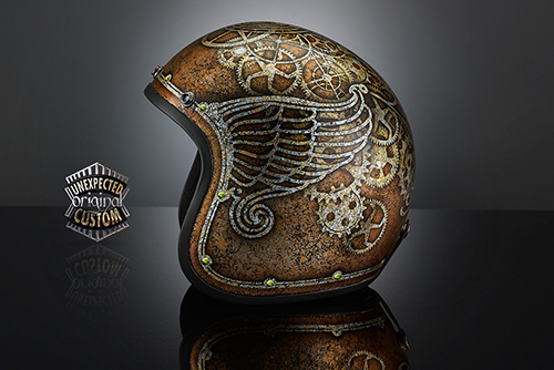 airbrush helmet custom steampunk custom helmet