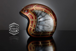 custom motorcycle helmet the snake