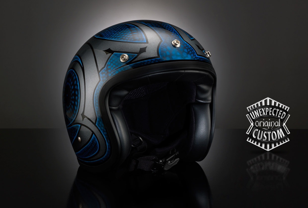 Custom motorcycle tank TRIBAL 1 DMD Vintage UNEXPECTED  : helmettribal1eBig <strong>KBC VR</strong> Helmets from www.unexpected-custom.com size 1240 x 838 jpeg 124kB