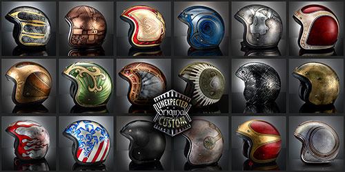 luxury custom helmets collection