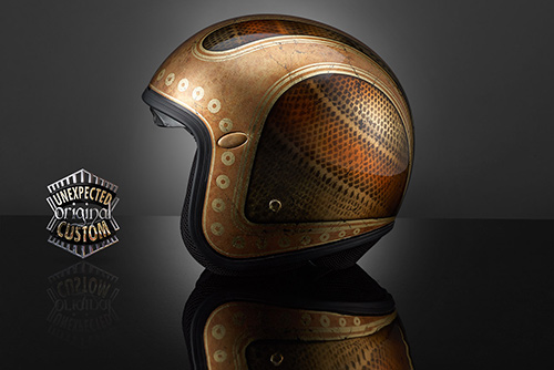 airbrush helmet custom new vintage gold custom helmet