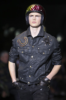 Unexpected Custom Helmets at Versace Fasion Show