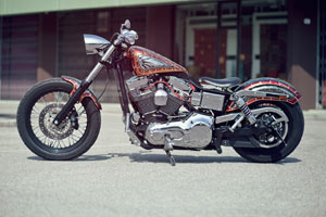 harley davidson dyna unexpected custom