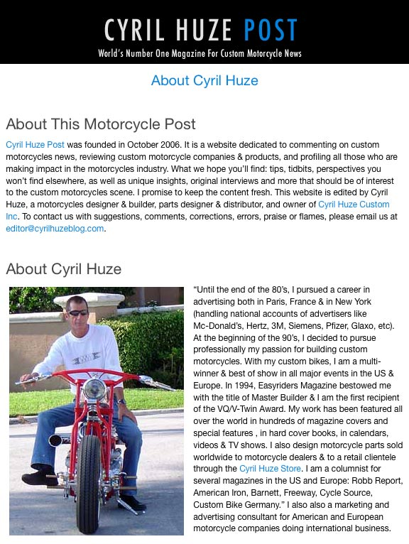 cyril huze unexpected custom